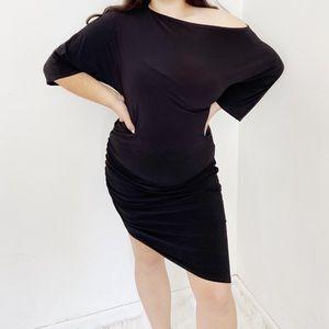 Dresses & Skirts - Plus Size Black Ruched Side Off Shoulder Dress 14